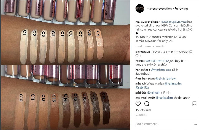 Arm swatches by MakeupbyTammi for Makeup Revolution
